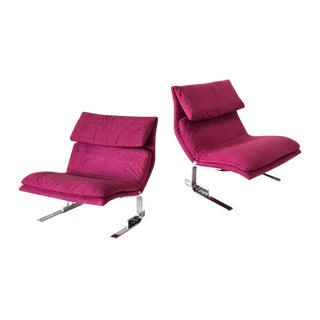 "1970s Saporiti ""Onda"" Lounge Chairs - A Pair"