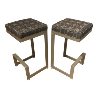 Modern Cantilevered Bar Stools - a Pair For Sale