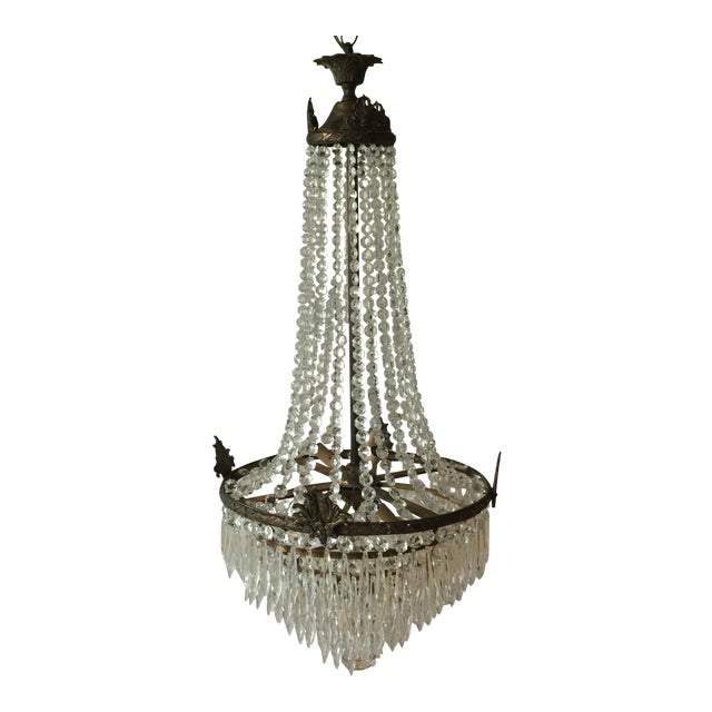 Acanthus Drop Crystal Chandelier For Sale