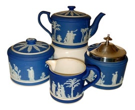 Image of Royal Blue Tea Sets
