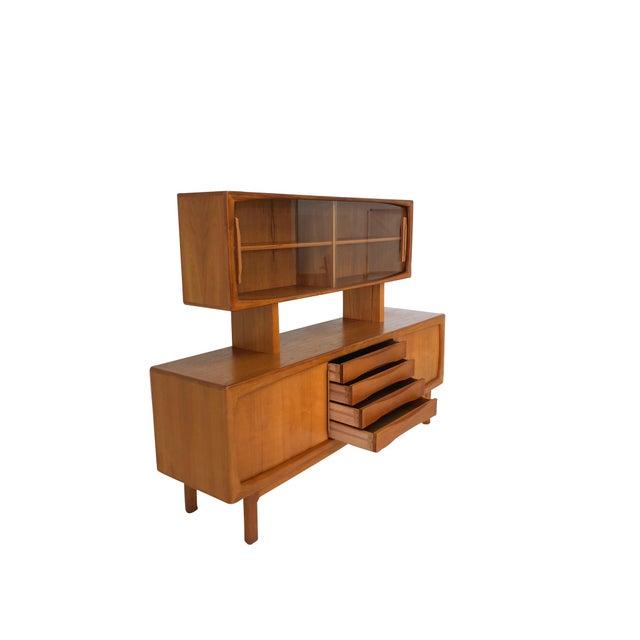 Danish Modern Danish Modern Teak Sideboard and Hutch For Sale - Image 3 of 10