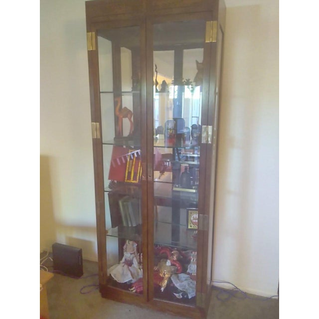 Very Good Vintage Condition From The About The1960 S Dimensions 31 W X Campaign 1960s Curio Lighted Glass Display Cabinet For