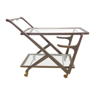 Vintage Mid-Century Italian Bar Cart For Sale