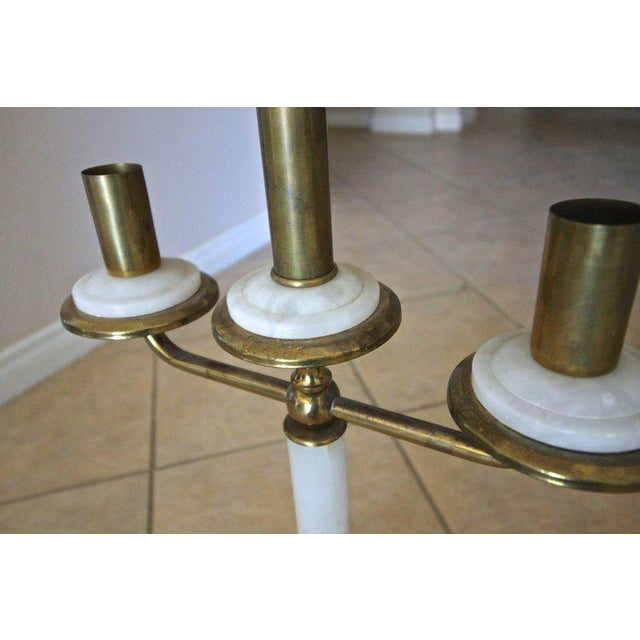 Italian Gio Ponti Style Alabaster Brass Lamps - a Pair For Sale - Image 10 of 13