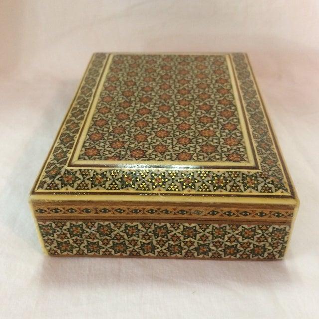 Persian Wood Inlay Box - Image 4 of 10