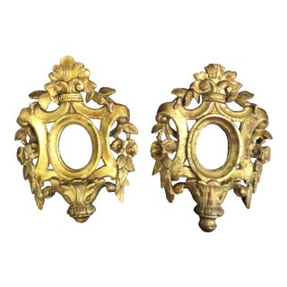 A Pair of 18th Century Venetian Giltwood Frames For Sale
