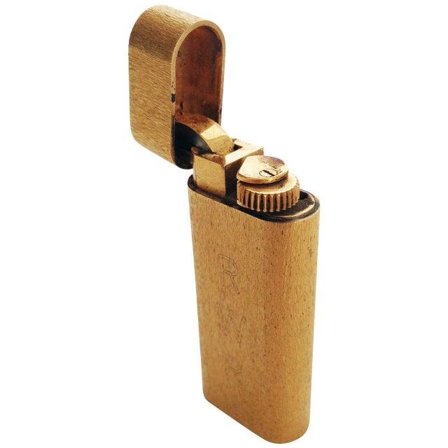 Gold Cartier 18-Karat Gold Pocket Lighter For Sale - Image 7 of 7