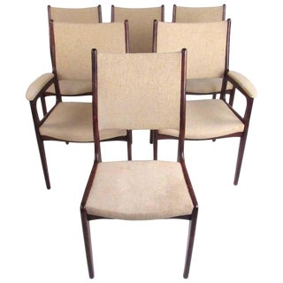 Scandinavian Modern Rosewood Dining Chairs - Set of 6 For Sale