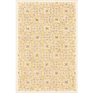 Schumacher Patterson Flynn Martin Sintra Hand-Coiled Abaca Geometric Rug - 6' X 9' For Sale