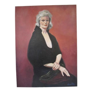 1980s Figurative Portrait of a Woman, Signed For Sale