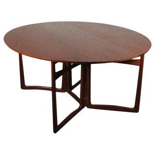 1960s Danish Modern Peter Hvidt Drop-Leaf Teak Dining Table For Sale