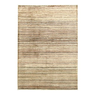 Contemporary Hand Woven Rug - 4' X 5'8 For Sale