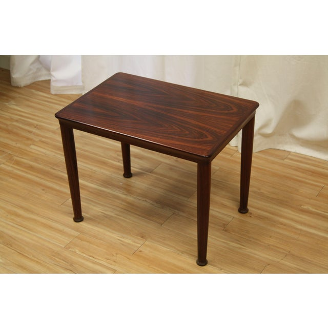 Henning Kjærnulf for Vejle Stole Rosewood Side Tables - A Pair For Sale In Seattle - Image 6 of 10