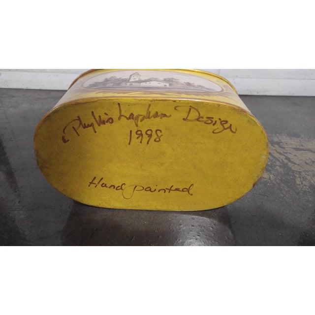 Metal Vintage Cachepot by Phillis Lapham Design C 1998 For Sale - Image 7 of 9