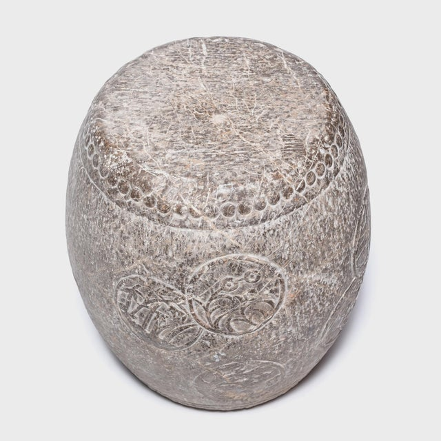 Early 21st Century Chinese Charm Stone Drum For Sale - Image 5 of 6