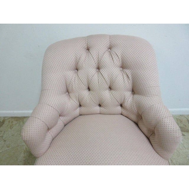 Ethan Allen Chesterfield Lounge Chair - Image 6 of 10