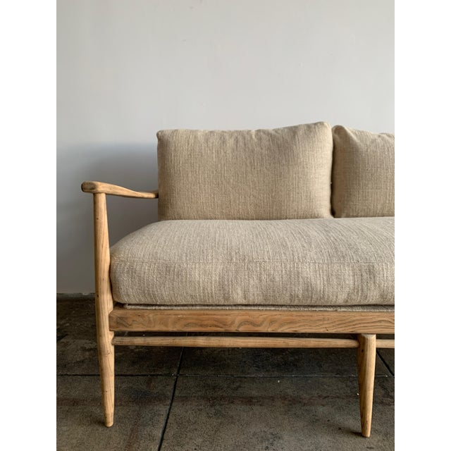 Can you say comfort and beauty!!! Gorgeous Restored Danish couch with tightly woven three sectioned cane backing. Solid...