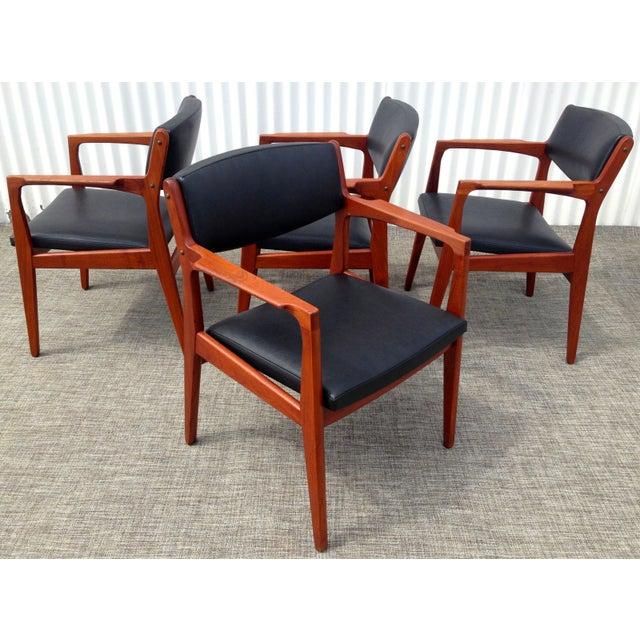 Danish Modern Mid Century Armchairs - Set of 4 - Image 2 of 4