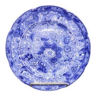 1870's Cauldon Place England Siam Cobalt Blue Porcelain Plate For Sale