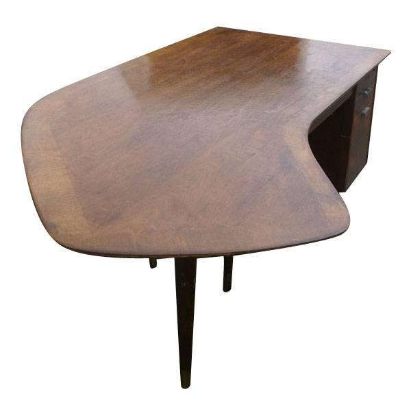 The amazing mid century boomerang shaped desk was created by Standard, a New York company known for its beautiful...