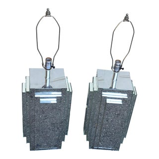 Vintage Modern Mirrors Lamps -A Pair For Sale