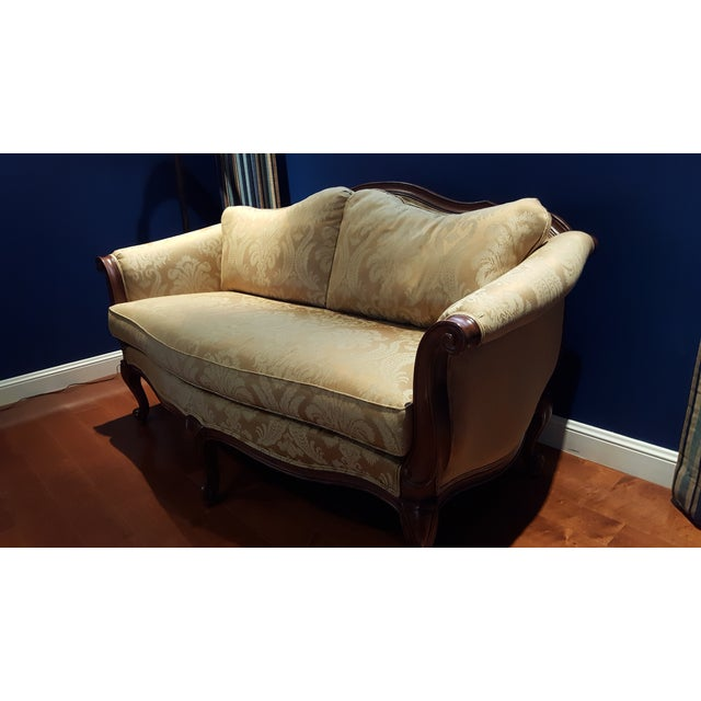 Ethan Allen Evette Settee - Image 4 of 7