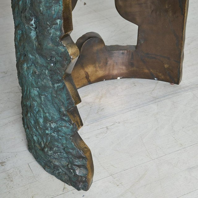 Bronze Brutalist Dining Table by Valenti Madrid For Sale - Image 9 of 13