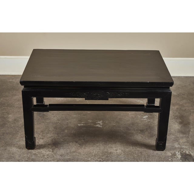 18th C. Low Black Lacquer Kang Table For Sale - Image 4 of 8