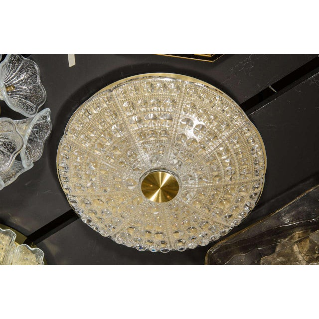 1950s Mid-Century Modernist Flush Mount Chandelier by Carl Fagerlund for Orrefors For Sale - Image 5 of 7