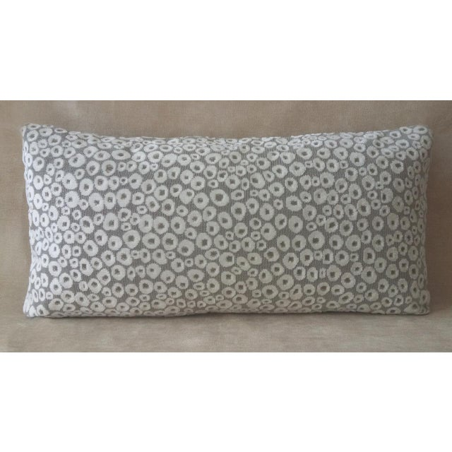 Contemporary Lumbar Eye Dots Decorative Pillow For Sale - Image 3 of 3