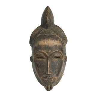 """Stunning Old Tribal Baule Mask Cote d'Ivoire 17"""" H For Sale"""