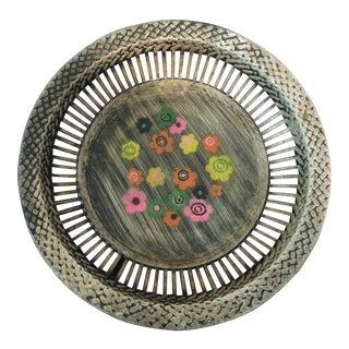 British Hong Kong Flower Painted Bread Basket