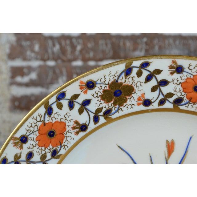 Derby Porcelain Late Georgian Crown Derby Old Japan Porcelain Dinner Plate For Sale - Image 4 of 8