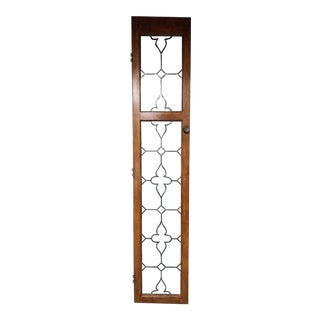 20th Century English Traditional Architectural Stained Glass Door For Sale