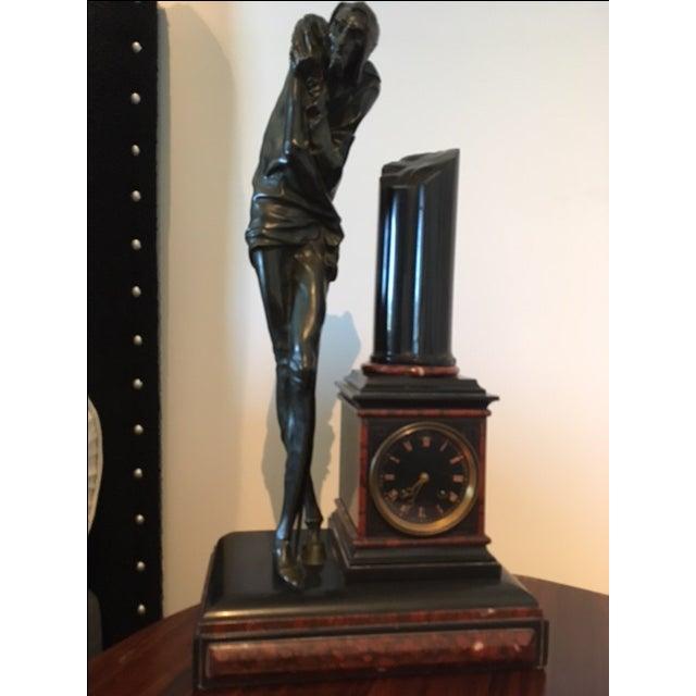 Bronze Sculpture Clock - Image 2 of 6