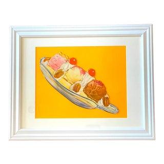"""Banana Split"" Contemporary Pop Art Style Still Life Print For Sale"