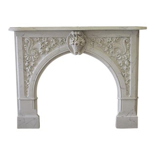 20th Century Louis XV Style Cultured Marble Fireplace Mantle