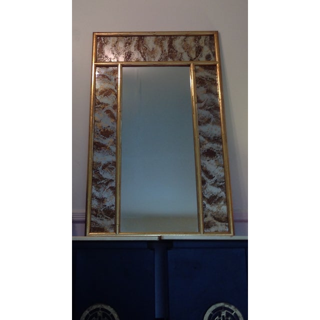 Turner Faux Bamboo Eglomise Mirror - Image 2 of 3