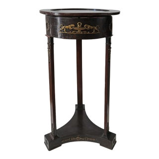 Late 19th Century French Empire Round Gueridon Table For Sale