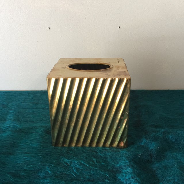 Brass Minimalist Tissue Box Holder - Image 2 of 7