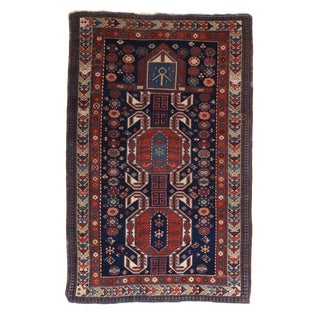 """Fine Antique Shirvan Russian Rug-3'6"""" X 5'5"""" For Sale"""