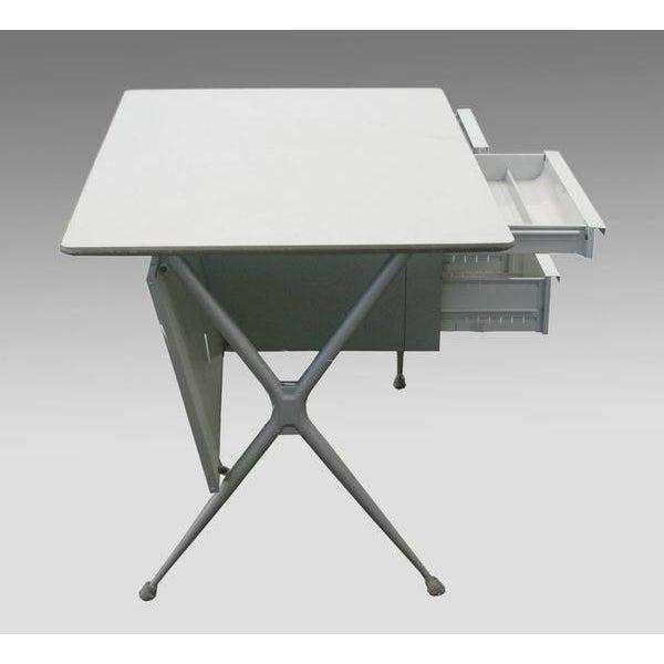 Metal Raymond Loewy Brunswick 4 Drawer Office Desk For Sale - Image 7 of 8