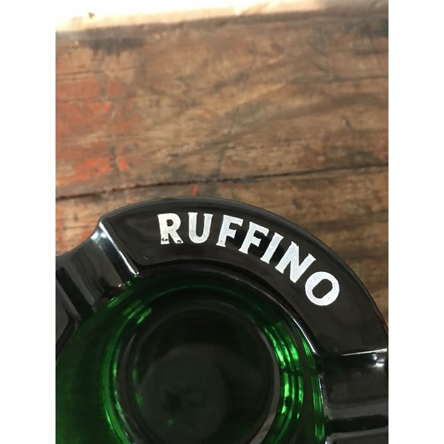Vintage Chianti Ruffino Pontassieve Green Glass Ashtray For Sale In Los Angeles - Image 6 of 7