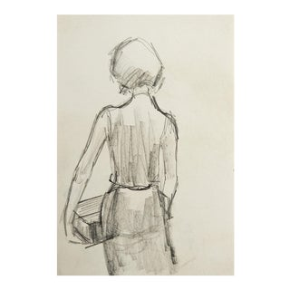 Small Pencil Study Drawing of Woman