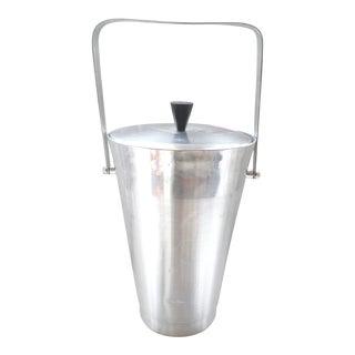 """1950s Ice Bucket Italian Mid Century Modern Atomic Huge 14"""" Aluminum For Sale"""