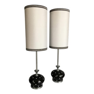 Vintage Rembrandt Rhinestone Lamps With Custom Shades - a Pair For Sale