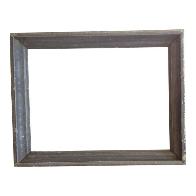 Vintage Gray Wood Frame - Image 1 of 4
