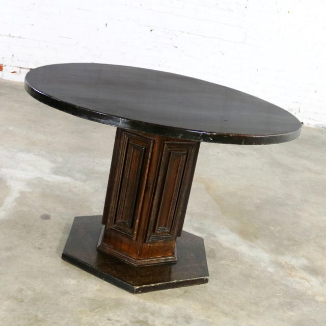 Mid 20th Century Spanish Colonial Revival Style Round Dining Table With Single Pedestal Style of Artes De Mexico Three Available For Sale - Image 5 of 13