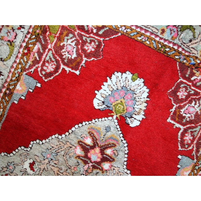 Textile 1940s Handmade Vintage Turkish Oushak Runner - 3′7″ × 11′1″ For Sale - Image 7 of 10