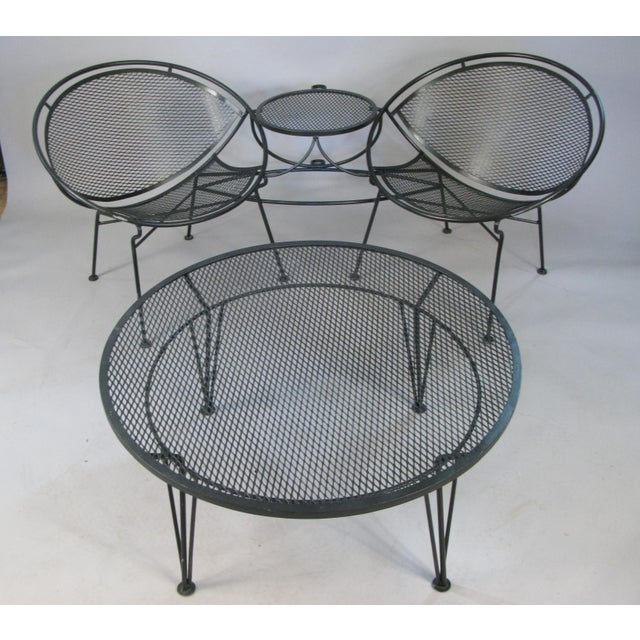1950s Salterini Radar Tete a Tetes and Cocktail Table- 3 Pieces For Sale In New York - Image 6 of 9